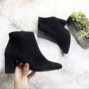 Paul Green Valerie Black Suede Ankle Boots